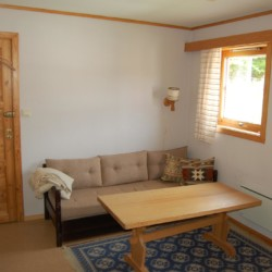 noun Doppelzimmer für das Küchenteam im norwegischen Gruppenhaus Undeland am See.