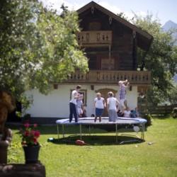 Die Umgebung des Gruppenhauses Höllwarthof in Österreich.