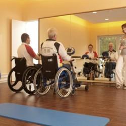 Der Fitnessraum im Heidehotel Bad Bevensen in Deutschland.