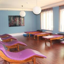 Der Entspannungraum der Sauna im deutschen Heidehotel in Bad Bevensen.