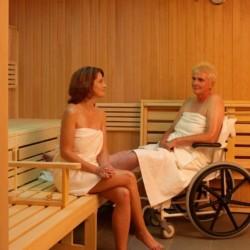 Der Saunabereich des Heidehotels Bad Bevensen in Deutschland.