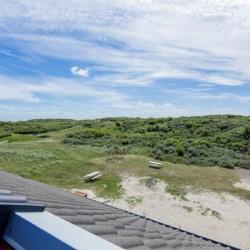 Der Ausblick des barrierefreien Gruppenhauses Kajüte auf der deutschen Insel Langeoog.
