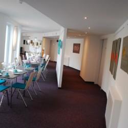 Speisesaal im barrierefreien Hotel Lichtblick in Bayern in Deutschland.