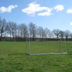 Fußballplatz am CVJM Gruppenhaus Marwede in Deutschland.