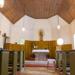 Die kleine Kirche in der Nähe des Gruppenhauses Bergheim Riedelsbach in Deutschland.