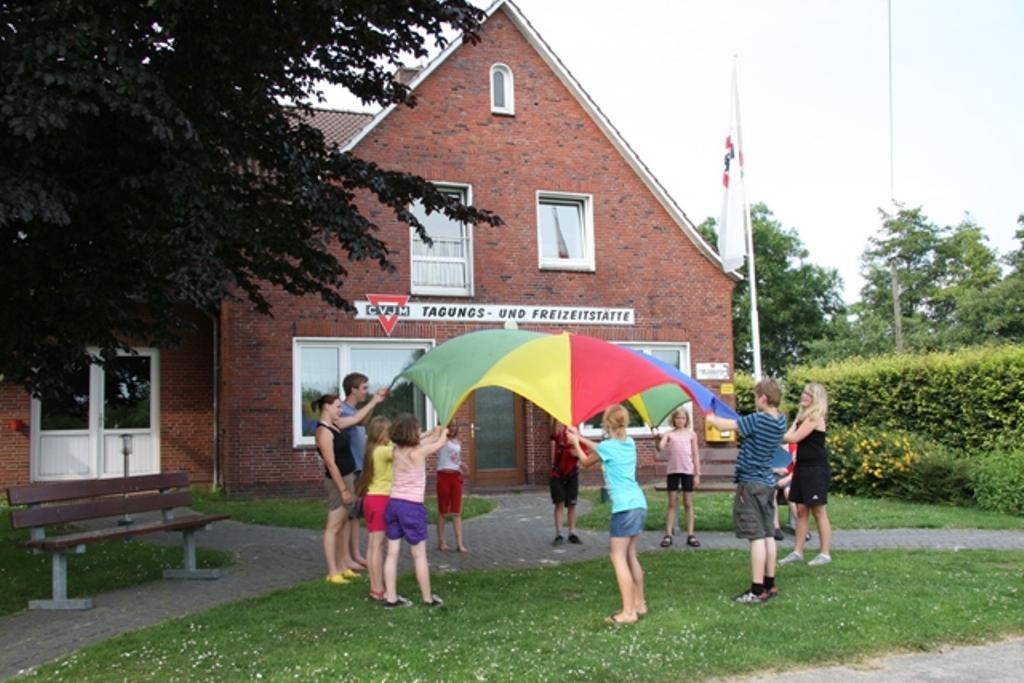 Das Gruppenhaus Rorichmoor für Kinder und Jugendfreizeiten in Ostfriesland, Deutschland.