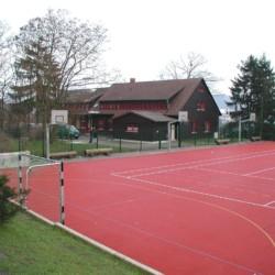 Sportplatz am Freizeitheim Schotten in Deutschland.