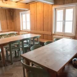 Der Speisesaal im deutschen Gruppenhaus Waldmichl