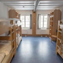 Ein Mehrbettzimmer im deutschen Freizeitheim Waldmichl.