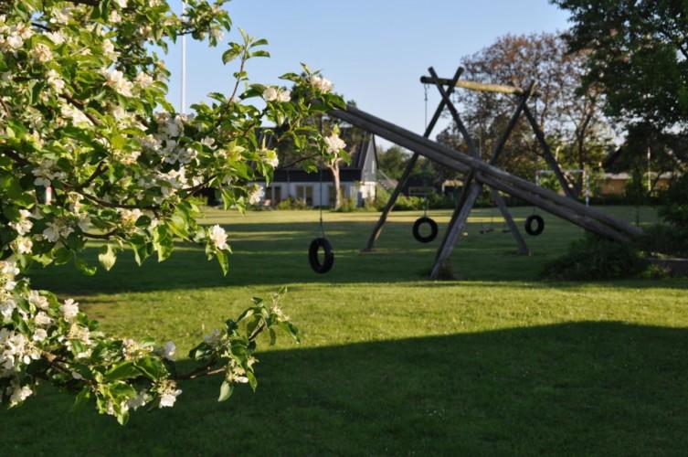 Der Spielplatz im dänischen Freizeitheim Boll´s Lejrskole auf der Insel.