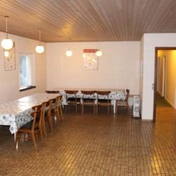 Der Speisesaal im dänischen Freizeitheim Boll´s Lejrskole auf der Insel.