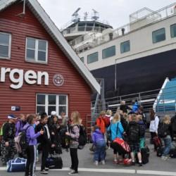 Fährankunft im dänischen Freizeitheim Boll´s Lejrskole auf der Insel.