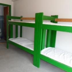 Schlafzimmer im Freizeithaus Ristingegaard in Dänemark.
