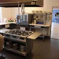 Die Küche im dänischen Gruppenhaus Ristingegaard.