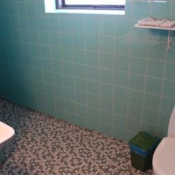 Die sanitären Anlagen im Freizeithaus Ristingegaard in Dänemark.