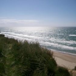 Der Strand im dänischen Kinder- und Jugendfreizeitheim Rubjerglejren direkt am Meer.