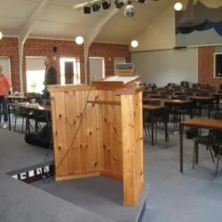 Der Versammlungsraum im Gruppenhaus Solgarden Efterskole in Dänemark.