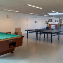 Der Gemeinschaftsraum im Gruppenhaus Solgarden Efterskole in Dänemark.