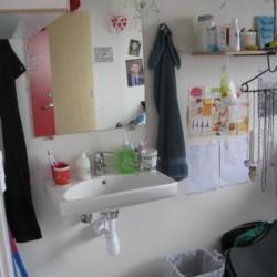 Eine Waschmöglichkeit im dänischen Freizeithaus Solgarden Efterskole.