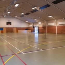 Die Turnhalle des Freizeitheims Solgarden Efterskole in Dänemark.