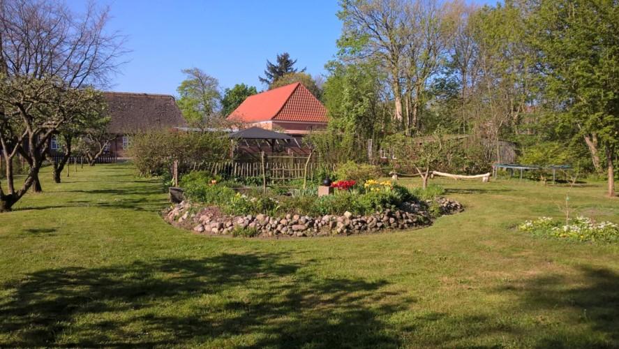 Das Gelände um das Gruppenhaus Vadehavs in Dänemark.
