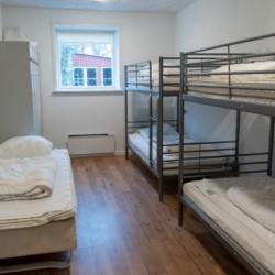 Die Zimmer im dänischen Gruppenhaus Vadehavs.