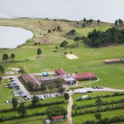 Das Freizeitheim Virksund in Dänemark von oben.