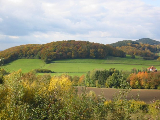 Teutoburger Wald direkt vor dem deutschen Freizeitheim Ascheloh