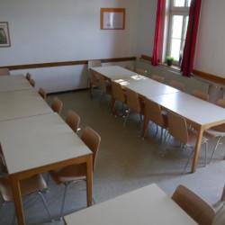 Der Speisesaal im Gruppenhaus Burlage in Deutschland.