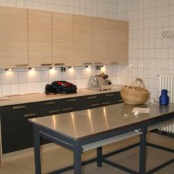 Die Küche im Haus Burlage in Deutschland.