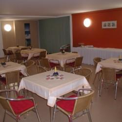 Der Speisesaal des Gruppenhauses Heringsdorf in Deutschland.