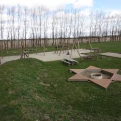 Der Spielplatz Freizeitheim Haervejens Leirskole für große Gruppen.