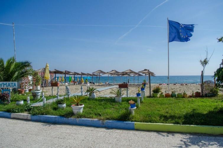 Strand beim griechischen barrierefreien Gruppenhaus am Meer