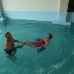 Das Schwimmbad im griechischen Hotel Villa Olymp.