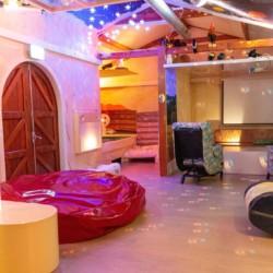 Snoezelraum für Menschen mit Behinderung beim Gruppenhaus ImminkBrink in den Niederlanden