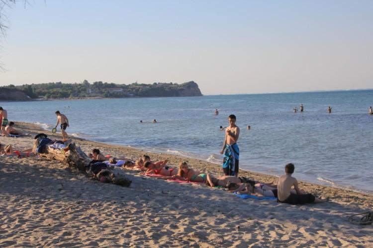 GRK1 Strand am griechischen Feriencamp für Jugendfreizeiten direkt am Mittelmeer