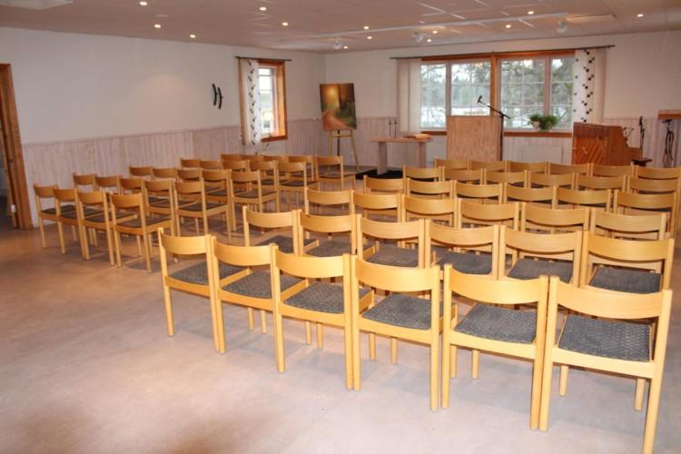 Die Kapelle im schwedischen freizeitheim Kåfalla.