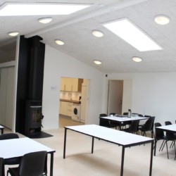 Speisesaal des dänischen Gruppenhauses Rolandhytten