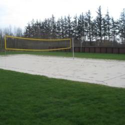 Volleyballfeld am dänischen Freizeitheim Solgården