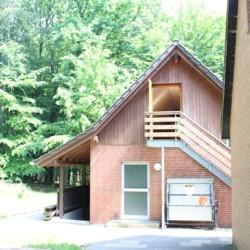 Nebengebäude mit Andachtsraum im deutschen Kinderfreizeitheim Waldheim Häger