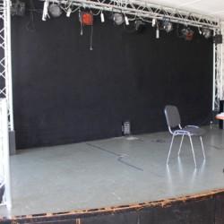 Bühne im Gruppenhaus Gulsrud in NOrwegen.