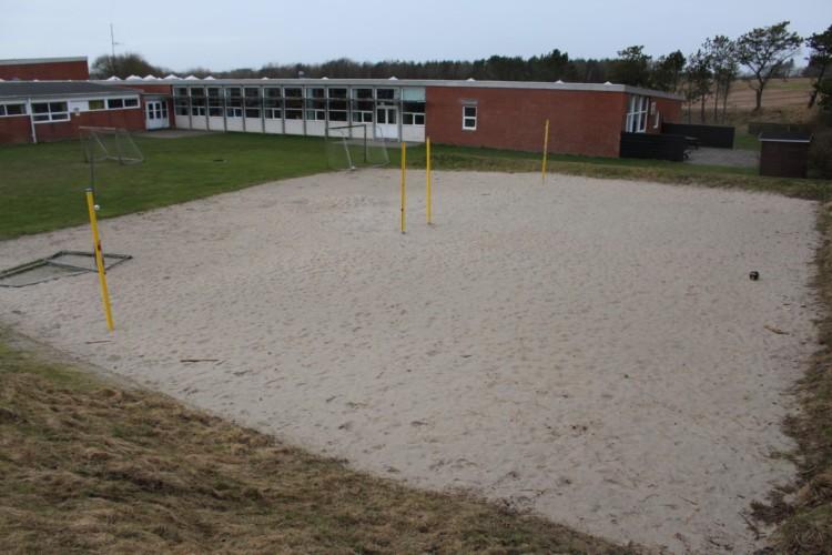 Sportplätze am dänischen Gruppenhaus Thy Bo an der dänischen Westküste