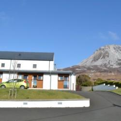 Das irische Freizeithaus Donegal Hostel für Kinder und Jugendgruppen am Berg Errigal Mountain.