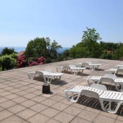 Die Sonnenterrasse des italienischen Gruppenhauses La Capannina.