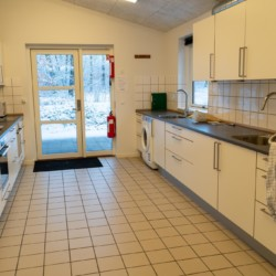 Küche im dänischen Gruppenhaus Rolandhytten