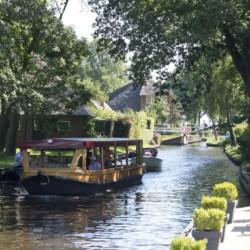 Die Umgebung des Freizeitheims Fredeshiem in den Niederlanden.