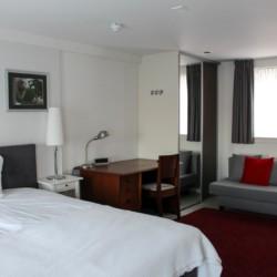 Doppelzimmer im Freizeithotel KOM! in den Niederlanden.