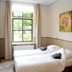 Das handicapgerechte Doppelzimmer im niederländischen Gruppenhaus ImminBrink.