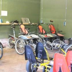 Die Rollifahrräder im niederländischen handicapgerechten Gruppenhaus ImminBrink.