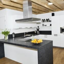 Die Küche im Gruppenhaus Linde Plus in den Niederlanden.